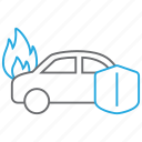 burn, car, fire, insurance icon