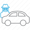 car, theft, vandalism icon