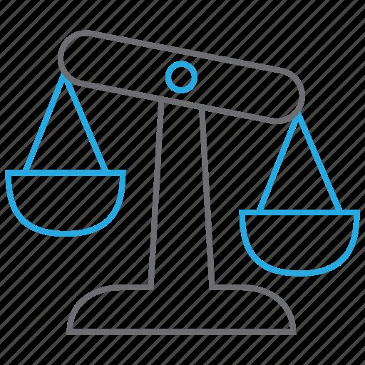 balance, evaluation, law, risk icon
