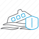 sinking, insurance, ship, sea icon