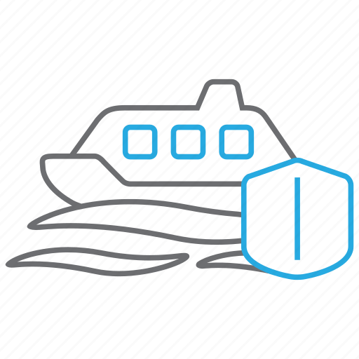 insurance, ship, travel, yacht icon
