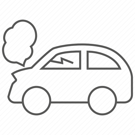 accident, auto, car, collide, crash, transport, transportation icon