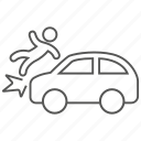 accident, car, collide, collision, crash, danger icon