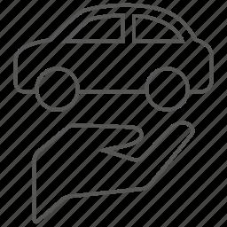 auto, car, care, hand, transport, transportation, vehicle icon