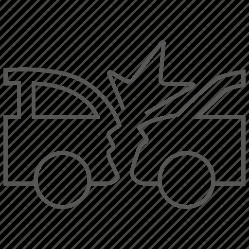 car, collide, collision, crash, transport, transportation, vehicle icon