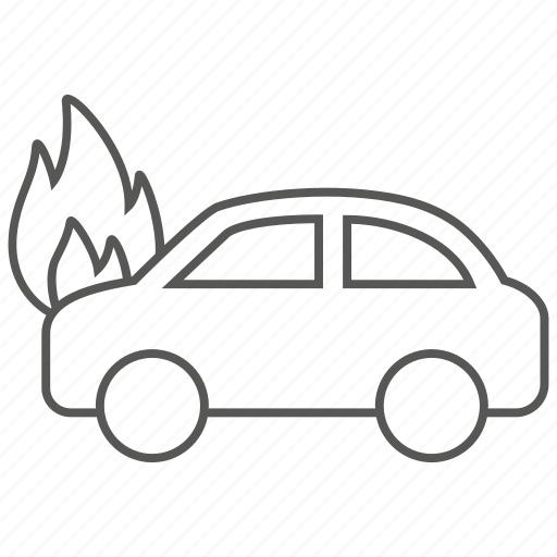 accident, car, danger, fire, flame, hazard, indemnity icon
