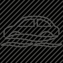 car, flood, indemnity, risk, sink, sinking, water icon