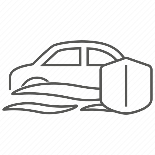 car, flood, hazard, indemnity, insurance, problem, risk icon