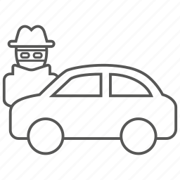 car, crime, steal, theft, transportation, vandalism, vehicle icon