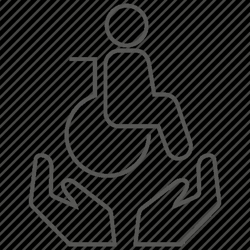 care, disability, disabled, elder, insurance, old, older icon