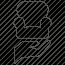 care, chair, furniture, interior, lounge, sofa icon