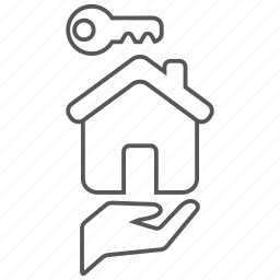 building, care, home, house, key, landlord icon