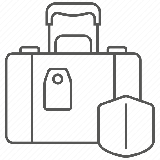 bag, baggage, insurance, luggage, suitcase icon