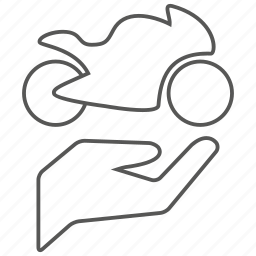 bike, biker, care, hand, motor, motorcycle, sport icon