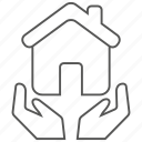 building, care, home, house, property icon