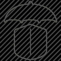 insurance, protection, safe, security, shield, umbrella icon