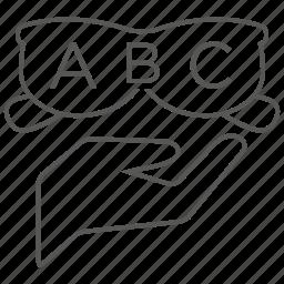 abc, eye, eyes, insurance, optical, vision icon