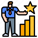 businessman, chart, evaluate, review, statistic
