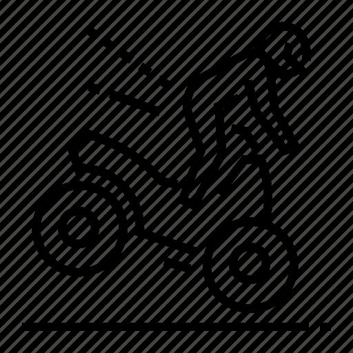 accident, danger, motorbike, road icon