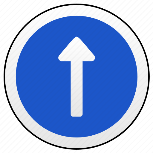 one, road, sign, way icon
