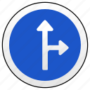 arrow, main, right, road, sign, ways icon