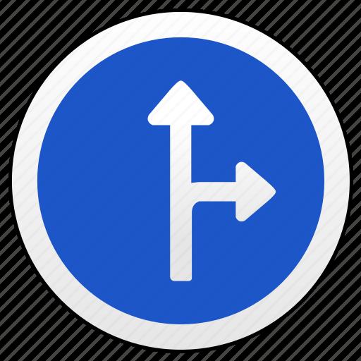 arrow, main, right, road, sign, ways icon