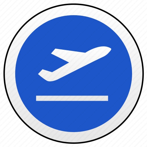 airbus, airport, fly, road, sign, up icon