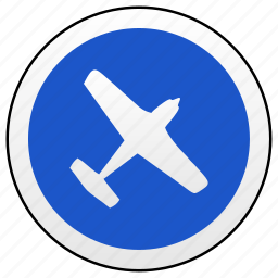 airbus, airplane, area, road, sign icon