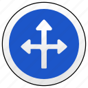 arrow, road, sign, ways icon