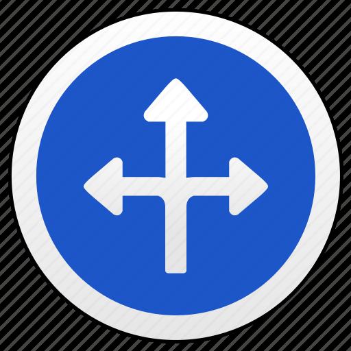 arrow, road, sign, ways icon