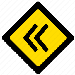 arrow, attention, move, right, road, sign icon