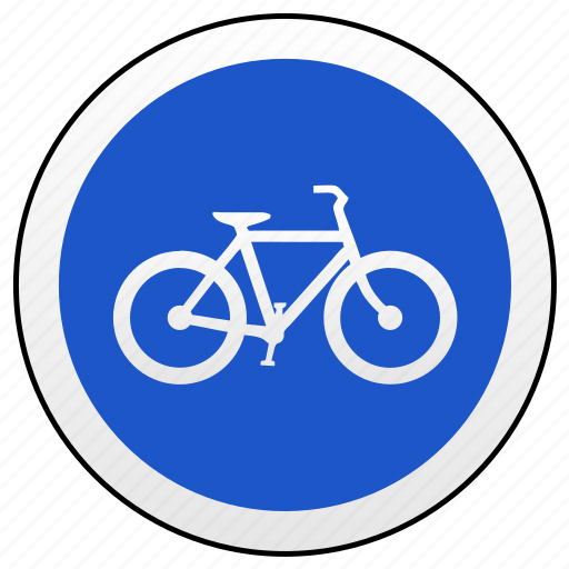 cycle, drive, move, road, sign icon