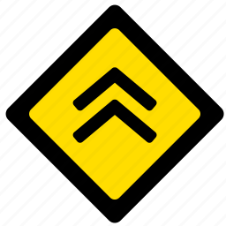 drive, move, road, sign, up, yellow icon