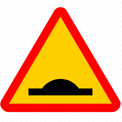 asfalt, attention, road, rough, sign icon