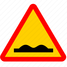 attention, dirt, road, rough, sign, warning, way icon