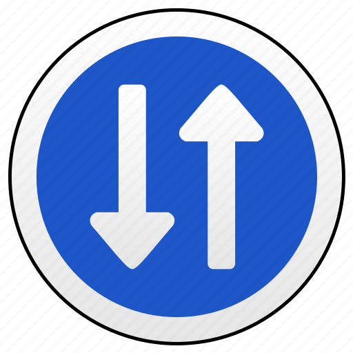 drive, oncoming, road, sign, traffic, ways icon