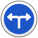 cross, left, right, road, sign, way, ways icon