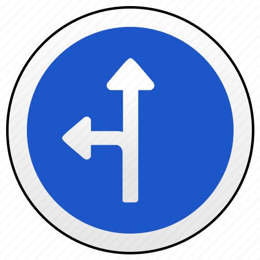 arrow, left, road, ways icon