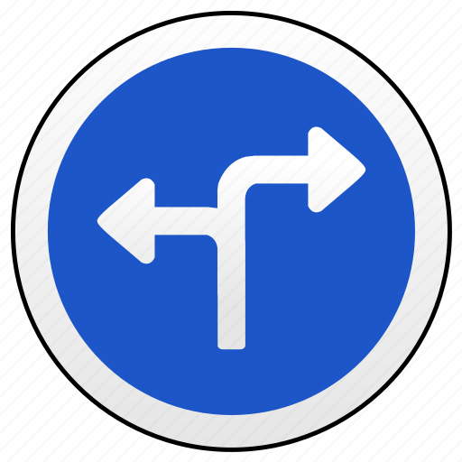 left, right, road, sign, ways icon