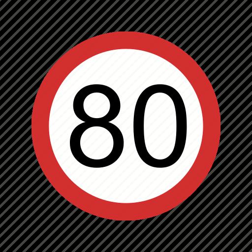 dashboard, limit, sign, speed limit icon