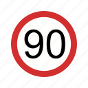 limit, sign, speed limit