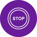 danger, sign, stop icon