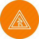crossing, pedestrian, road sign icon