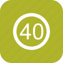 dashboard, limit, sign, speed limit icon