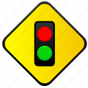 green, lights, red, road, traffic, warning icon