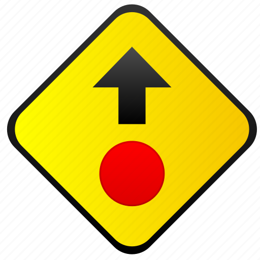 ahead, road, sign, stop, warning icon