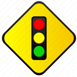 light, road, sign, traffic, warning icon