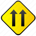 road, sign, traffic, warning, ways icon
