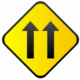 road, sign, traffic, warning, ways icon