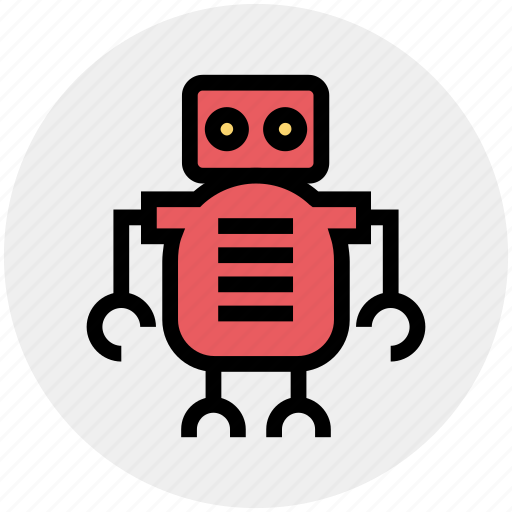 cute, friendly, laboratory, robot, science, space icon